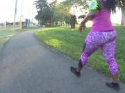 Thick Chunky Ebony in Pink Spandex Pt. 1