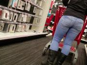 Blonde milf pawg tight Jeans and boots