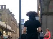 Curly hair nice arse bare legs candid