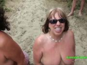 Cum for Grannies at the beach