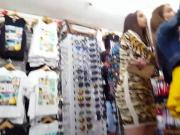 Candid voyeur teens shopping in dresses and skirts