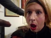 Sissy Crossdresser Annette gets a gigantic facial