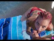 Redhead Anna Bell Peaks Poolside Anal