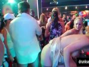 Sexy clubbers fucking in public