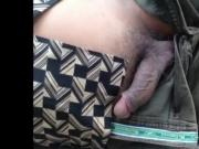 Caught - Daddy Outdoor big uncut cock