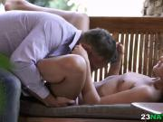 Hot garden fuck with Anna Rose