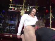 German MILF Seduce to Fuck in Bar by Stranger