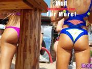 Sexy bikini Beach Babes Voyeur Close-up bikini spy
