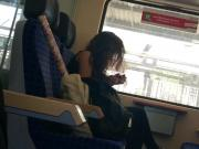 wow real hot girl on the train