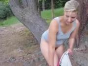 Amateur forest piss