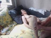 fuck girlfriend toy dick, fuck her, cum in pussy