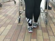 Thick white girl Nike spandex