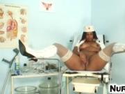 Manuela a naughty nurse pussy self-exam