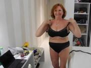 Hot Granny Strips and dances around Naked