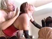 Old man fucks busty maid
