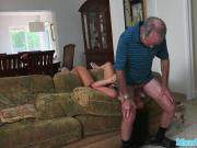 Perverted oldguy rimmed by young escort