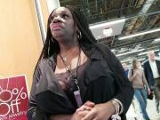 Ebony candid big natural tits