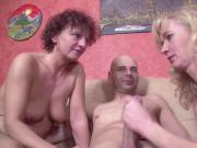 German Big Dick Guy Seduce Step-Mom and Aunt to Fuck
