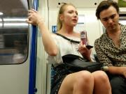 Hot girl on underground
