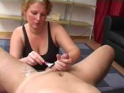 Amateur - Redhead Shaves BF & Gives CIM Facial - Hubby Films