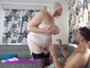 Sally gets a young man very hard