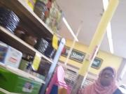 Muslim granny upskirt