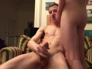 Mandy shoves a black dildo up her hairy pussy