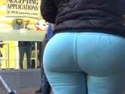 Ass in Green Jeans with VPL