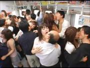 Japanese Kiss - Orgy of Tongue Kissing on the Train