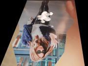 Kate Beckinsale lather shine pant cum tribute cam2