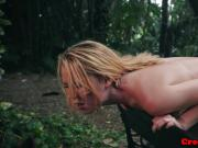 Teen babe hardfucked outdoors by a stranger