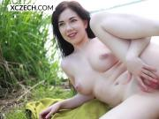 Daphne Angel showing pussy outdoor - XCZECH.com