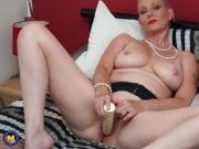 Busty natural UK mother with wet pussy