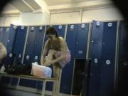 In locker room