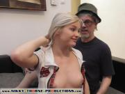 Tina Blade fucking grandpa - Zazie Skymm gives grandpa a BJ