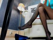 Long legs in pantyhose