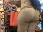 Hungry BBW Ass in Grey Checkout Line