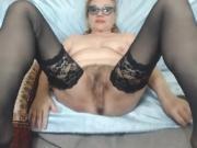 Huge boobs sucking her own milk on webcam