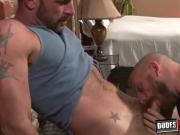 Freaky homos asshole devours inked studs big bare dick