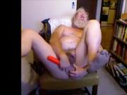 grandpa play with a dildo