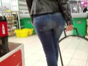 Young woman sexy ass