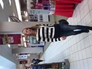 Shopping in tight jeans and heels