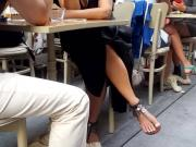 Candid mature sexy long feets white toes