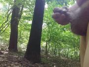 Jerking off naked in woods 2018