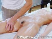 PornPros Brunette Dillion Harper massage fuck and facial