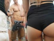 latin ass in mini shorts