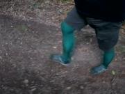 Wandern in Strumpfhose