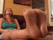 julia feet tease stocking