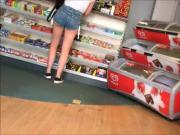 Sexy bum buying a Costa...