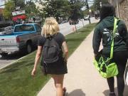 Jiggly College Teen In Leggings